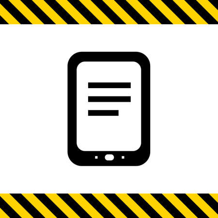 gadget: Icon of tablet computer Illustration