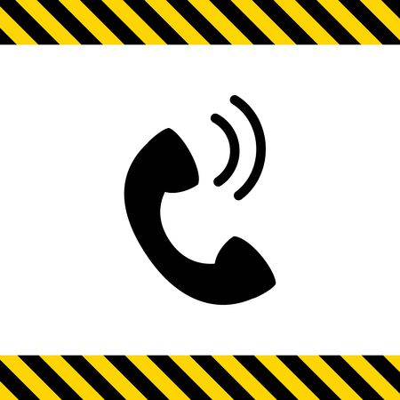 replying: Telephone receiver icon Illustration