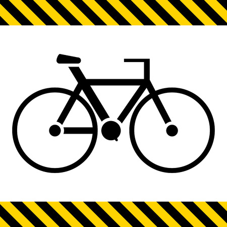 racing sign: Bicycle icon