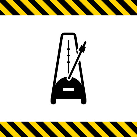 pendulum: Vector icon of metronome with moving pendulum