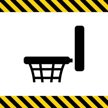 hoop: Icon of basketball hoop Illustration