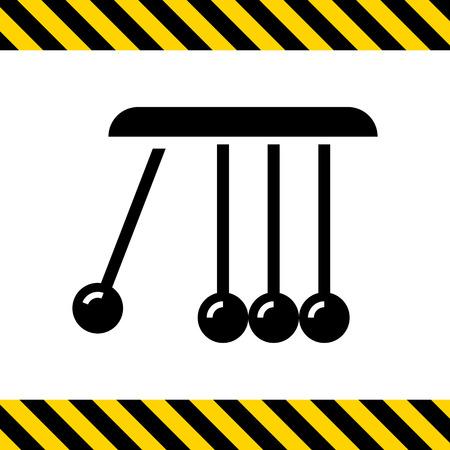 kinetic: Vector icon of Newton cradle balancing balls