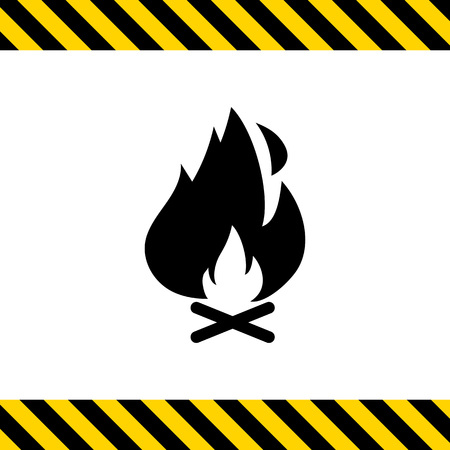 logs: Icon of campfire with logs and flame