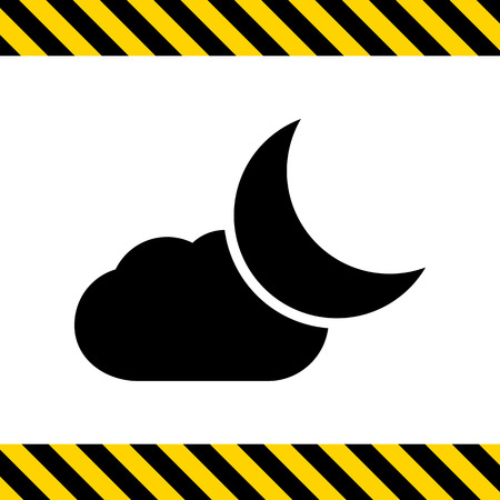 crescent moon: Icon of cloud and crescent moon