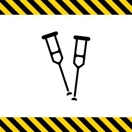 crutches: Icon of crutches
