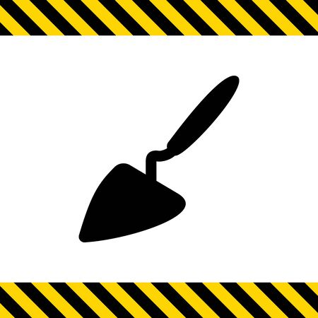 bricklaying: Vector icon of construction trowel with handle