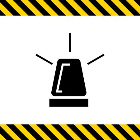 flashing: Vector icon of glowing roof  flashing light