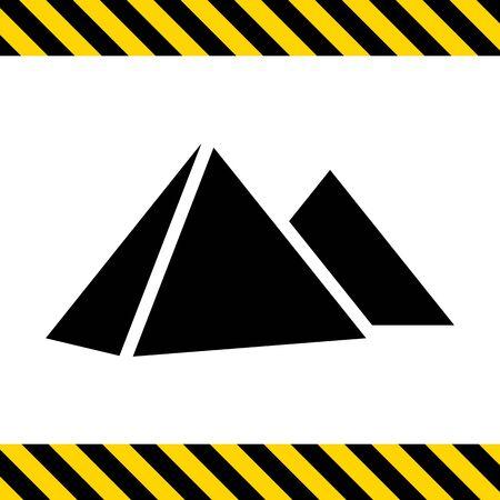 giza pyramids: Giza pyramids icon Illustration