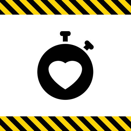 heart monitor: Icon of heart rate monitor