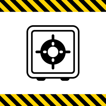 gas burner: Icon of gas burner, top view Illustration