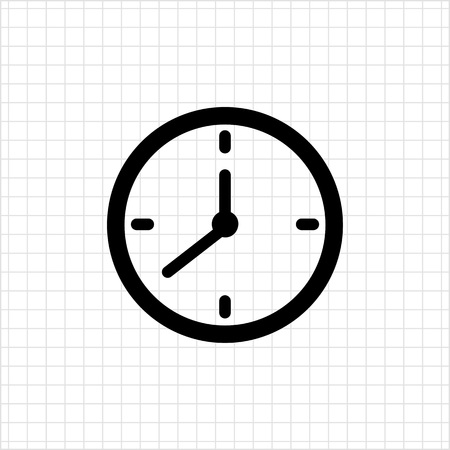 job deadline: Vector icon of wall clock