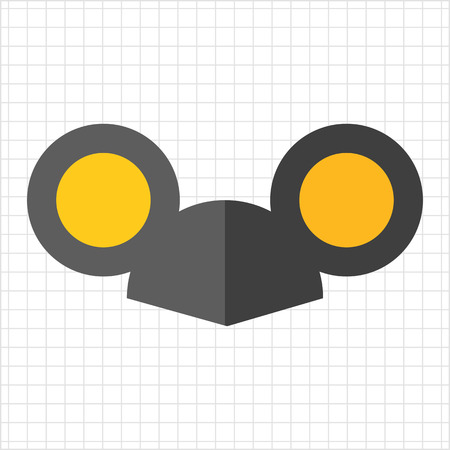 ear: Vector icon of black cap with mouse ears