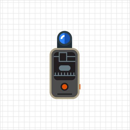 gatillo: Icono del vector del disparador de flash remoto de la c�mara