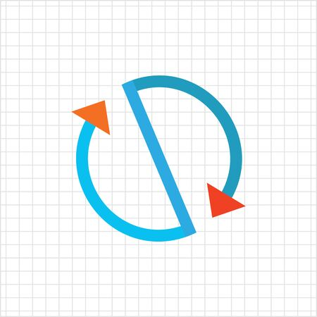 circulation: Multicolored vector icon of stylized circulation sign made of arrows