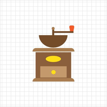 wood turning: Coffee mill icon