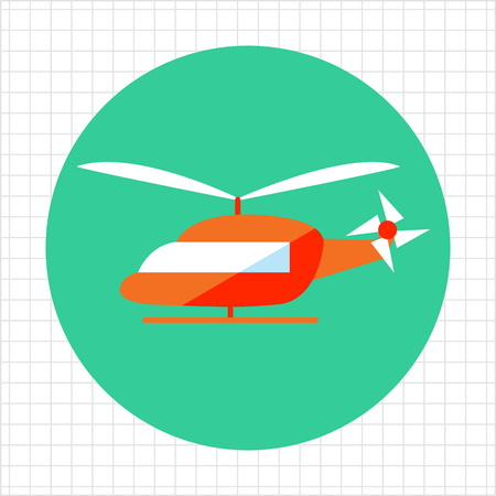 helicopter pilot: Helicopter icon Illustration
