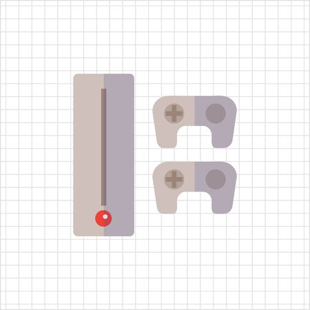 game console: Icon of game console with two joysticks Illustration