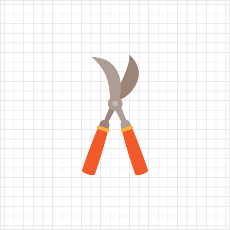 pruning: Vector icon of with red handles