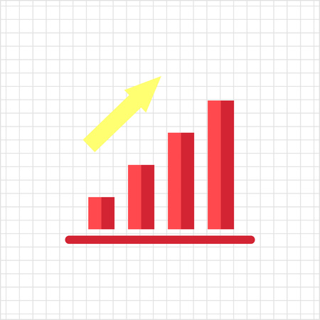 uptrend: Icon of growing bar chart Illustration