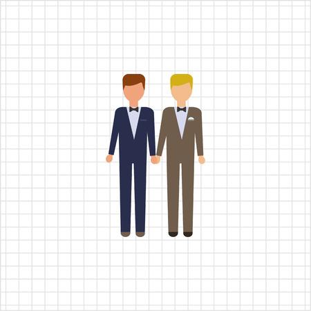 bridegrooms: Icon of two bridegrooms Illustration