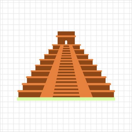 itza: Maya pyramid icon