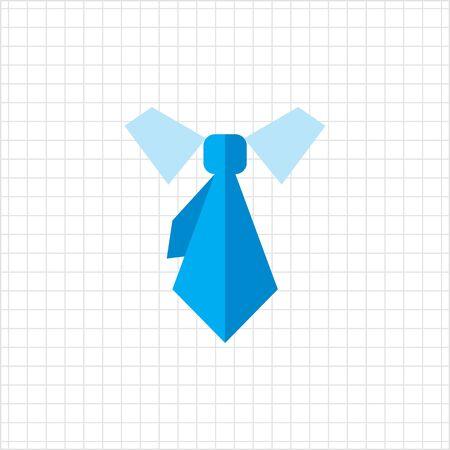 collar: Icon of necktie and shirt collar