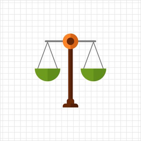 comparing: Scales icon Illustration
