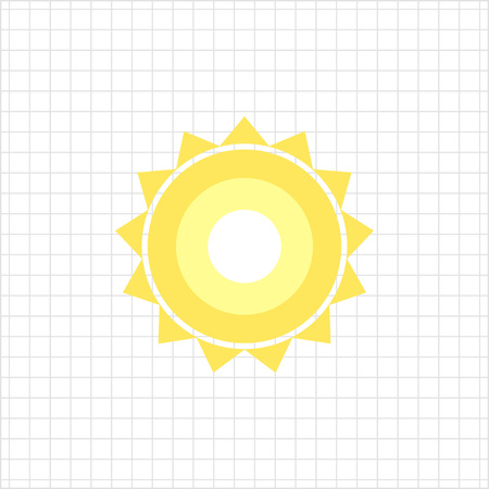 beams: Icon of sun with beams Illustration