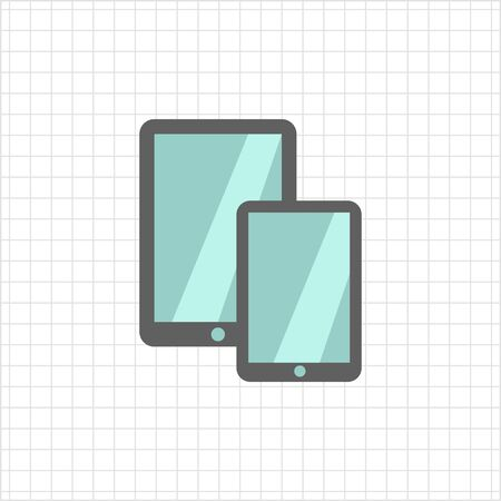 obody: Icon of tablet computer and smartphone