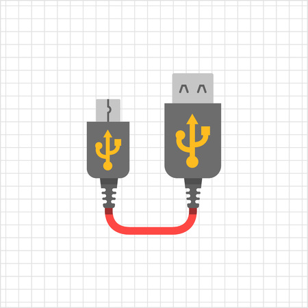 female connector: Icon of USB to mini USB extender