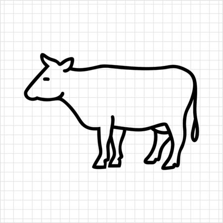 dairy products: Cow icon