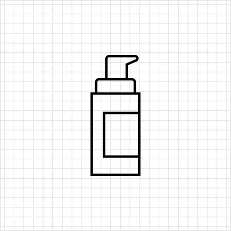 dispenser: Cosmetic bottle with dispenser