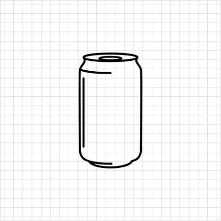 aluminum: Icon of aluminum can