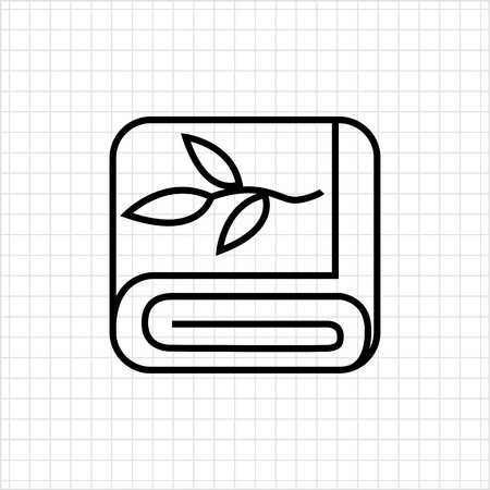 toiletries: Folded towel icon