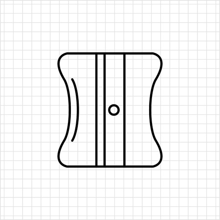 sacapuntas: Icono de los sacapuntas de l�piz Vectores