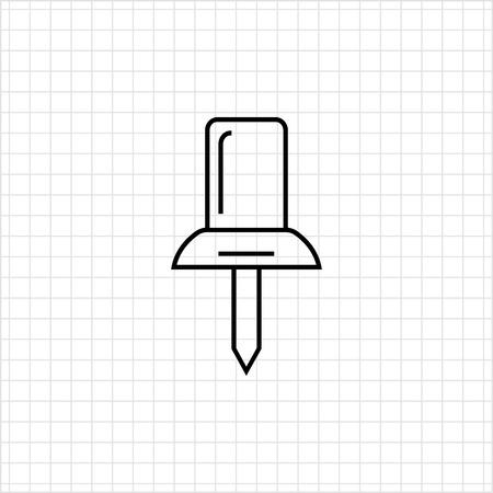 push pin icon: Push pin icon