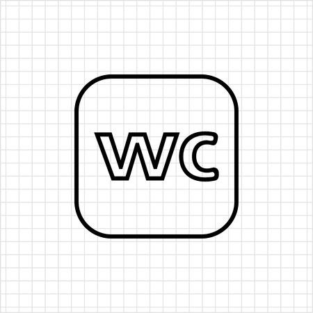 wc: WC-Zeichen Symbol