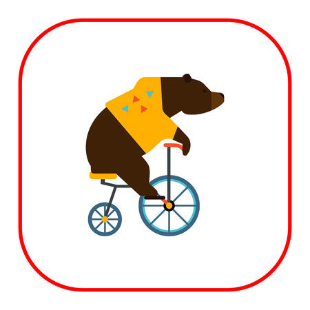perform performance: Icon of circus riding bicycle