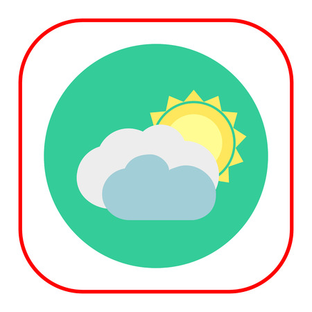 covered: Icon of sun covered with clouds