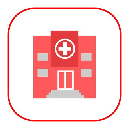 public health services: Icon of hospital building front