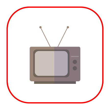 retro tv: Icon of retro TV set
