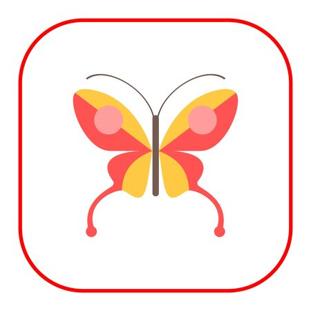 arthropods: Red butterfly icon Stock Photo