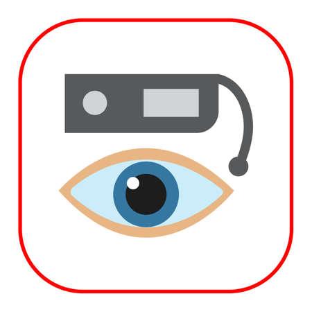 human eye: icon of smart glasses and human eye