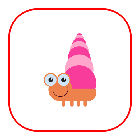 dna smile: icon of cute smiling cartoon snail Illustration