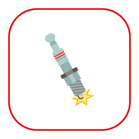 spark plug: Spark plug icon Illustration
