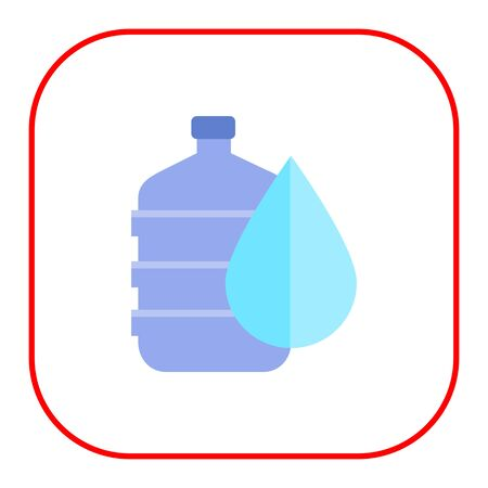 icon of water dispenser with drop