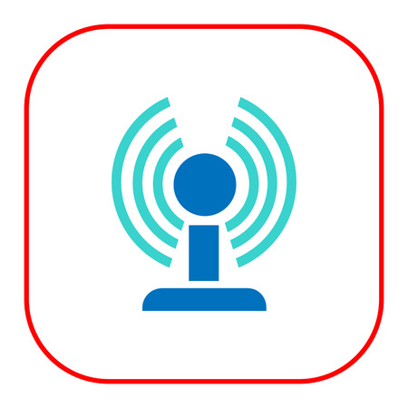 Icon of wifi router in circle