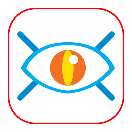 lashes: Icon of open human eye with lashes Illustration