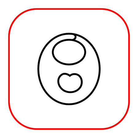 bib: Icon of baby bib with apple print