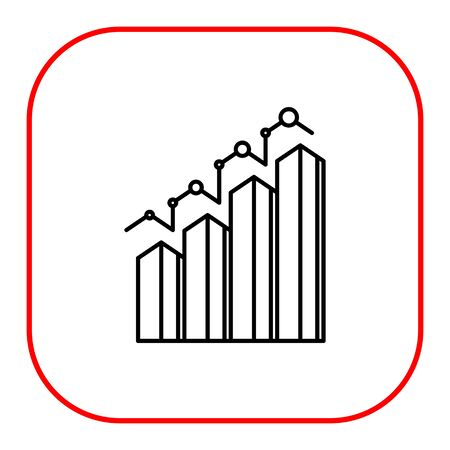 uptrend: Icon of bar chart